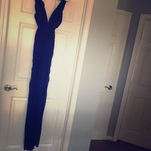 Cache Royal blue, long formal dress. Stunning on!